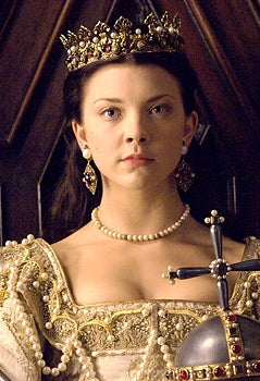 As Anne Boleyn on The Tudors