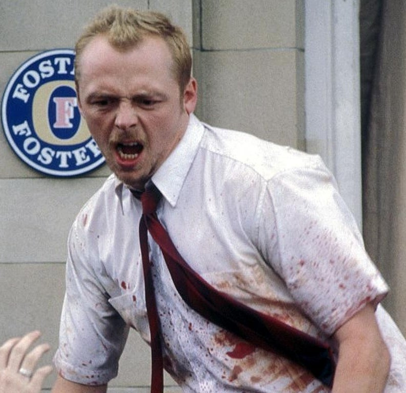 As Shaun in Shaun of the Dead