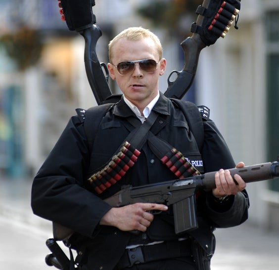 As Nicholas Angel in Hot Fuzz