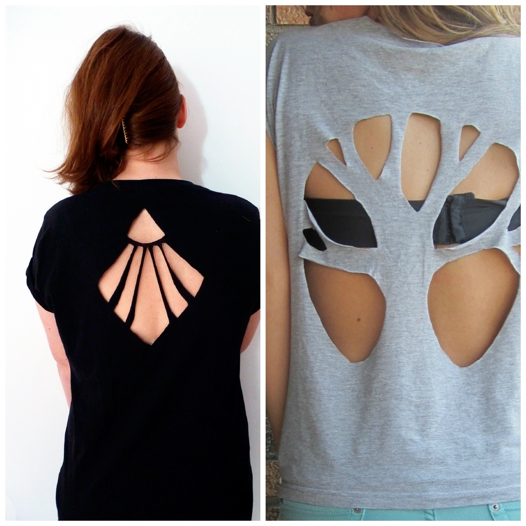 2 cool new ways to cut up a t shirt - T Shirt Cutting Designs Ideas