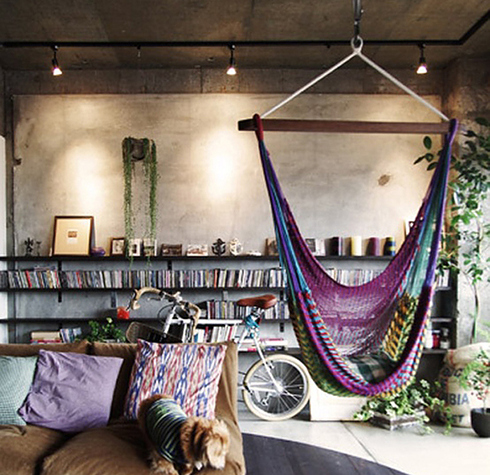 Hanging Indoor Chairs Are Perfect For A Bohemian Living Room. BuzzFeed