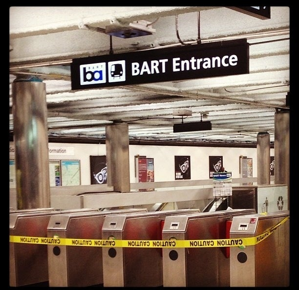 BART during the strike.