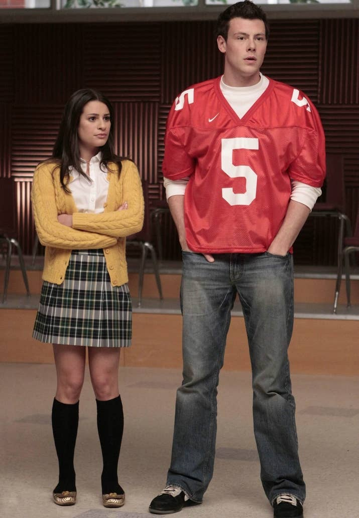 Lea Michele And Cory Monteith Begin Working Together On Glee In 2009 Playing The Roles Of Rachel Finn