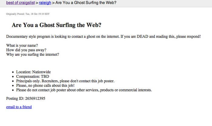 Best Of Craigslist: You're Looking For Who?