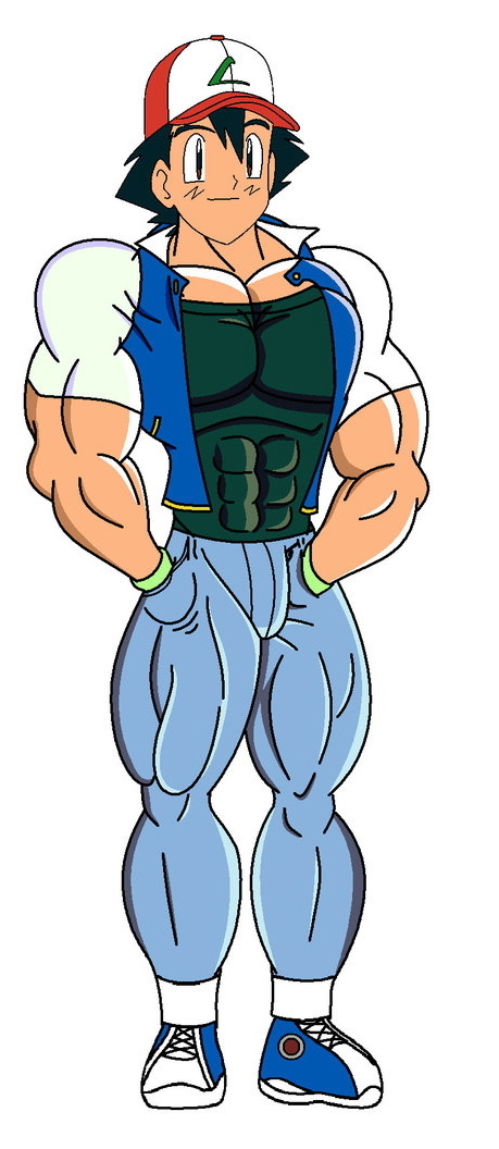 cartoon muscular