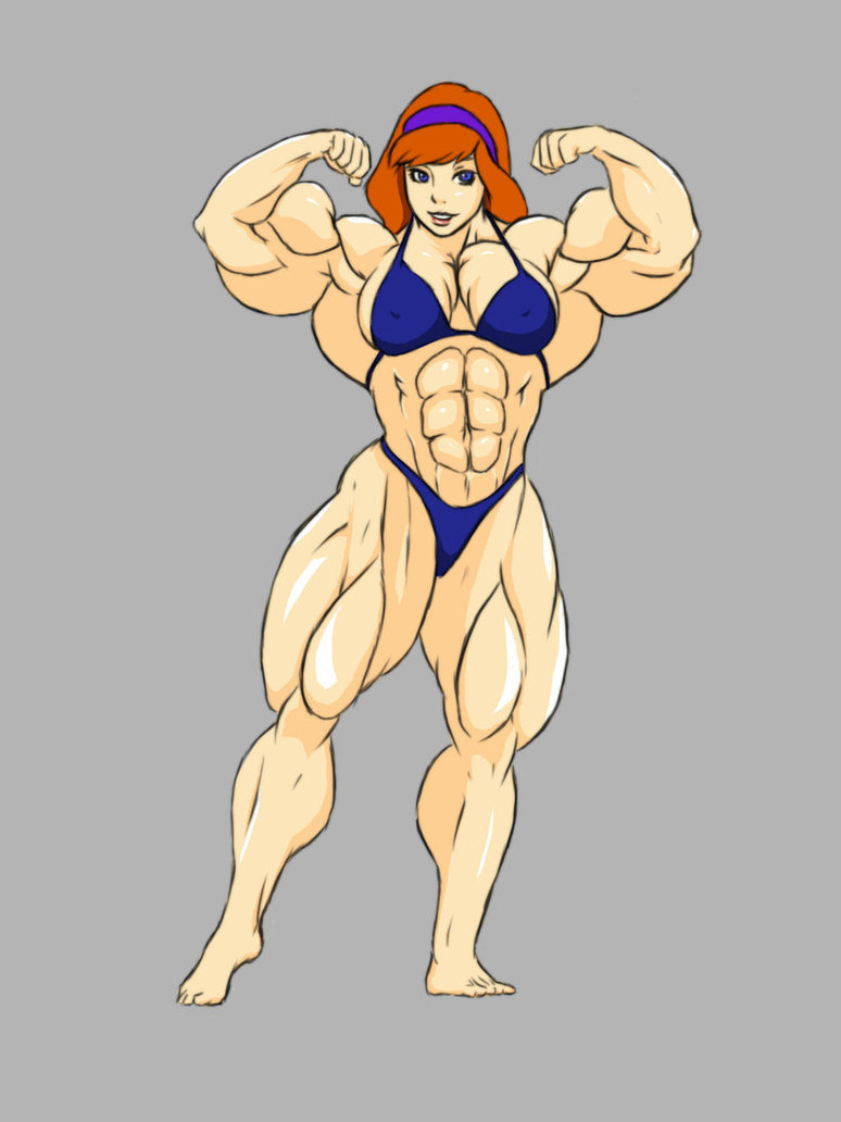 Huge muscle women in animated videos anime film