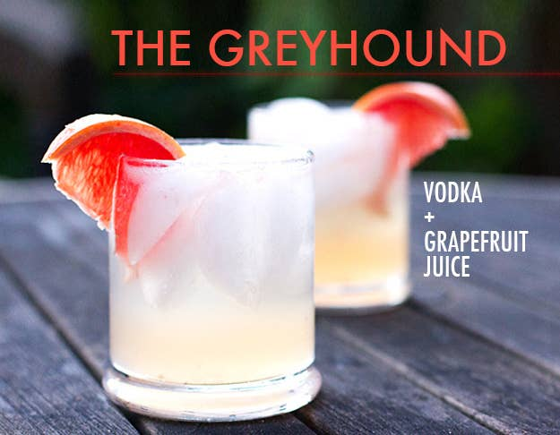 Top one or two shots vodka with grapefruit juice. Freshly squeezed juice from an actual grapefruit is ideal, but not required. Hot tip: adding salt to the rim a) is good and b) officially turns the drink into a Salty Dog.