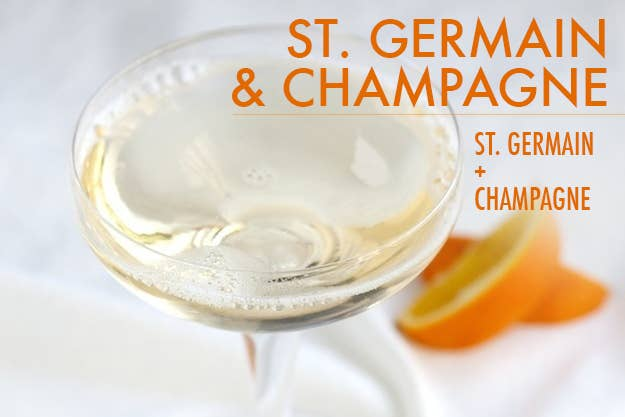 The elegant elderflower liqueur is back in style these days. Mix 1/2 oz. St. Germain with 4 oz. champagne and garnish with an orange slice or a strawberry.