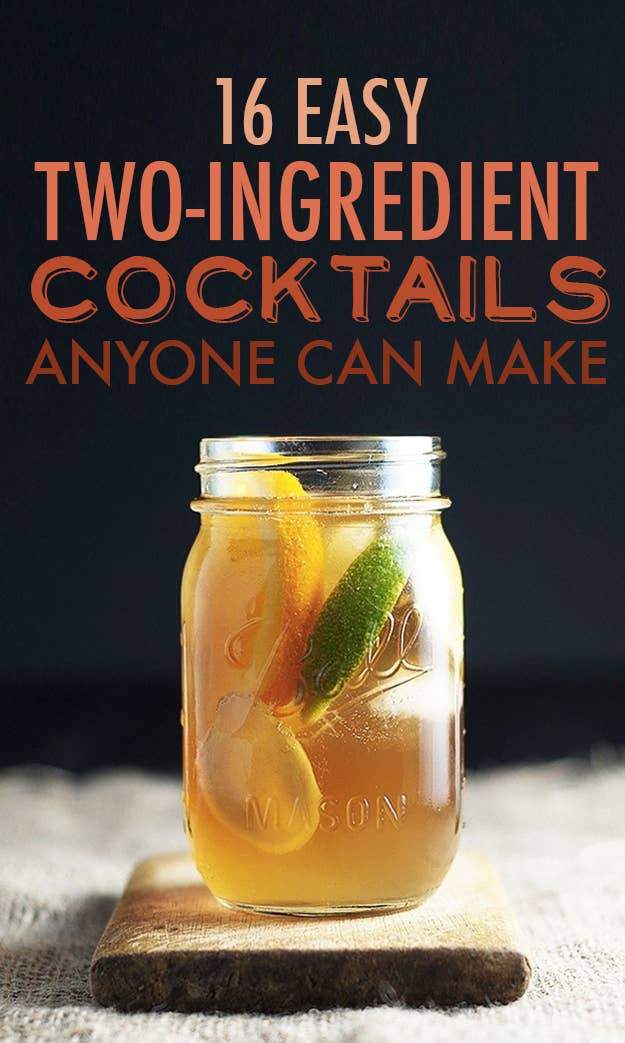 16 Two Ingredient Cocktails Anyone Can Make