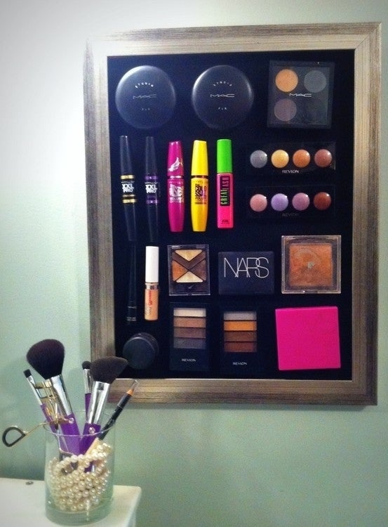 This is a good way to keep track of your makeup and stay organized. Instructions here.