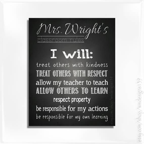 Display The Classroom Rules