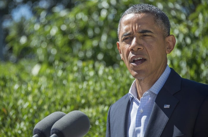 President Obama spoke Thursday from his rented vacation home on Martha's Vineyard.