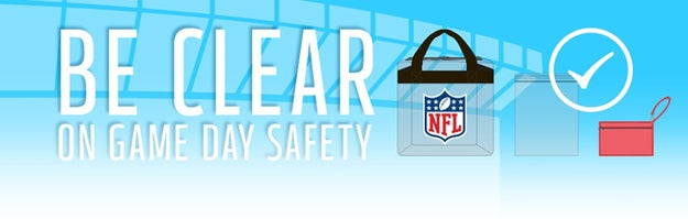 The NFL has introduced a new policy stating that women can't bring purses over a certain size, larger than a wallet, to any NFL game. If you want to bring a larger purse, you can either bring one of the logoed clear bags, or you can bring a ziplock bag.A ziplock bag. I guess I would recommend freezer proof for women in New England and Minnesota. Then I got to thinking of several things the NFL should have banned instead of my innocent H&M cross body bag...