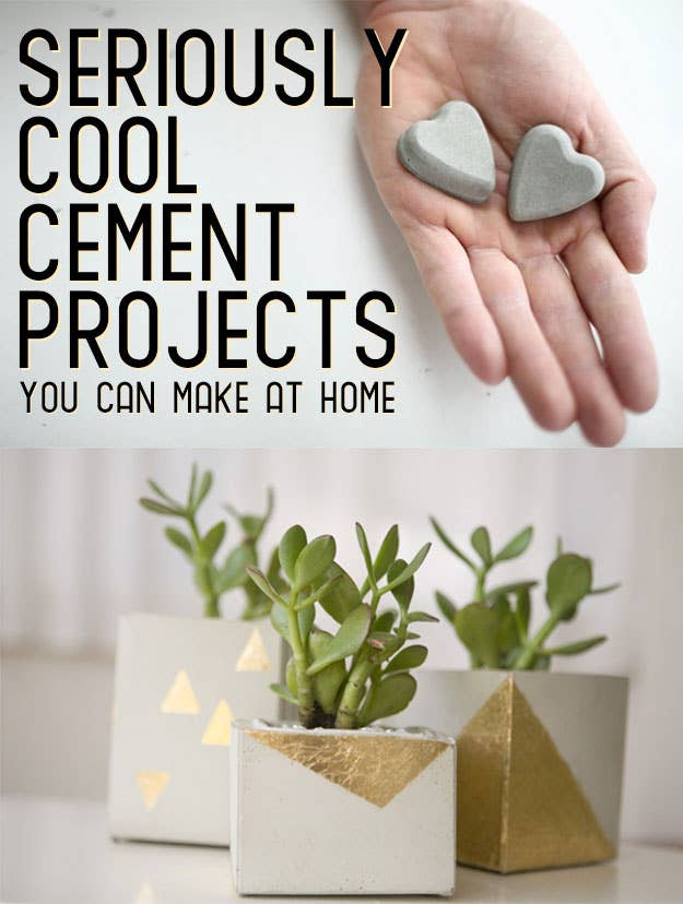 22 seriously cool cement projects you can make at home share on facebook share solutioingenieria Image collections