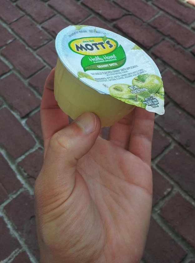 Forget to pack a spoon with that applesauce? No problem.
