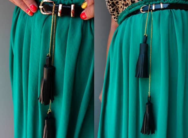 Put a tassel on it - your belt that is.