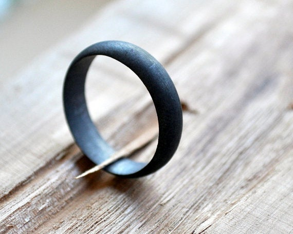 This ring is handcrafted from recycled sterling silver, and the oxidization process makes it look like GUNMETAL.