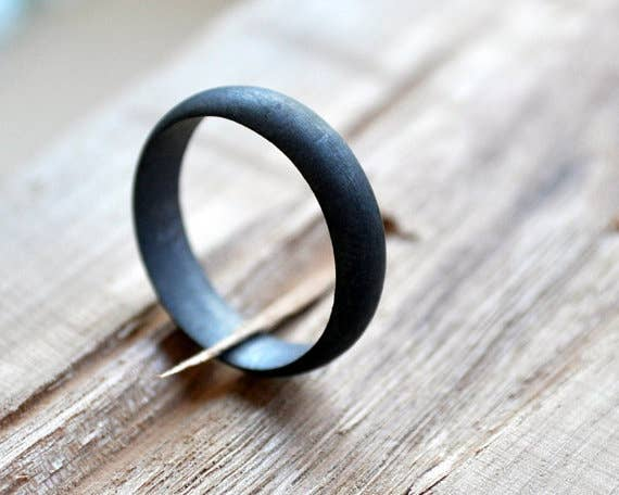 34 unconventional wedding band options for men oxidized black grey band 95 junglespirit Choice Image