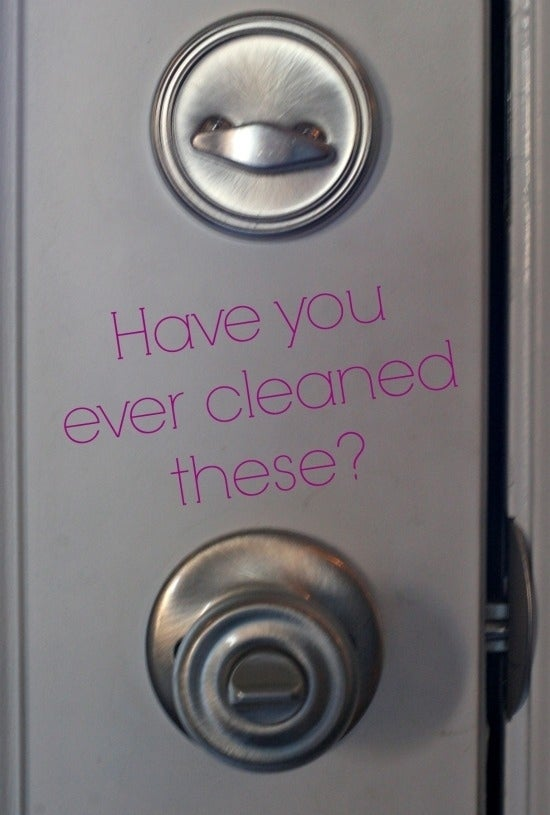 You might already clean your knobs, but what about the deadbolt?