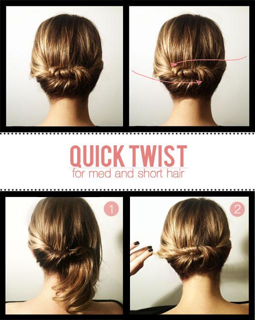 Quick Twist for Shorter Hair