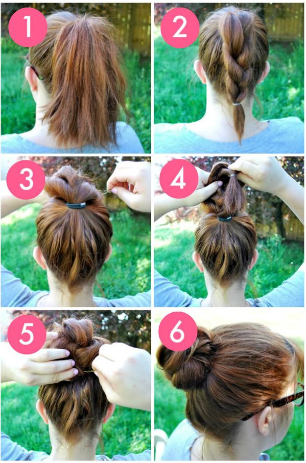 Несложная прическа для жидких волос