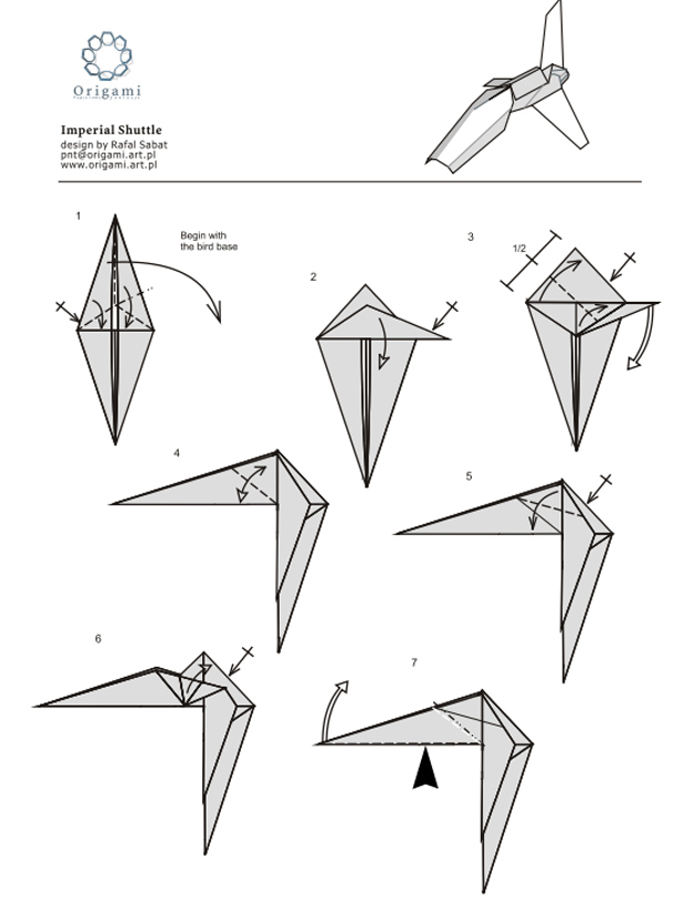 how to make origami star wars ships step by step