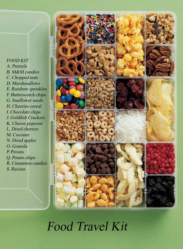 Then Put Everything In A Travel Snacks Kit!