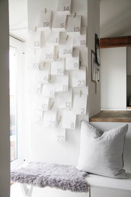 Paper bags, stencils and some pretty tape is all that you need.