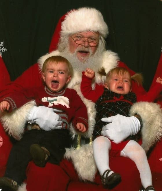 1 look how jolly he is - Santa And Kids