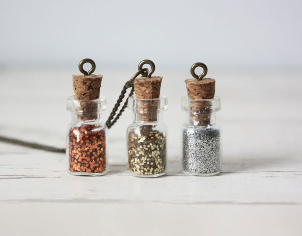 Glitter Bottle Necklaces