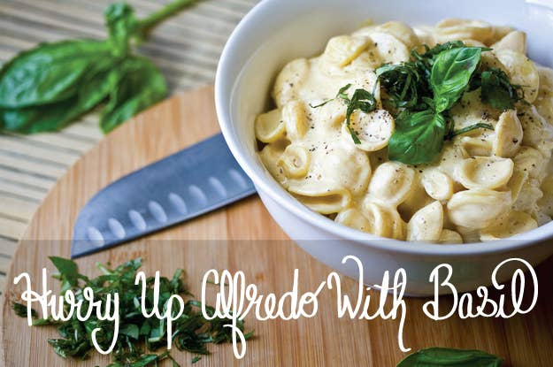 30 delicious vegan meals you can make in under 30 minutes 1 hurry up alfredo with basil forumfinder Gallery