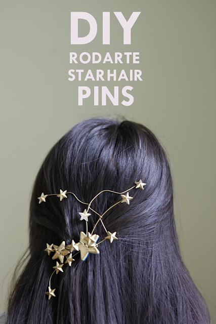 DIY Rodarte Star Hairpins