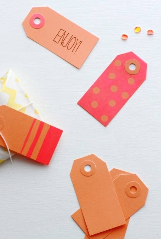 Color Block Gift Tags