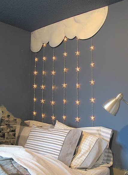 46 Awesome String-Light DIYs For Any Occasion:Here's a 2-dimensional version.,Lighting