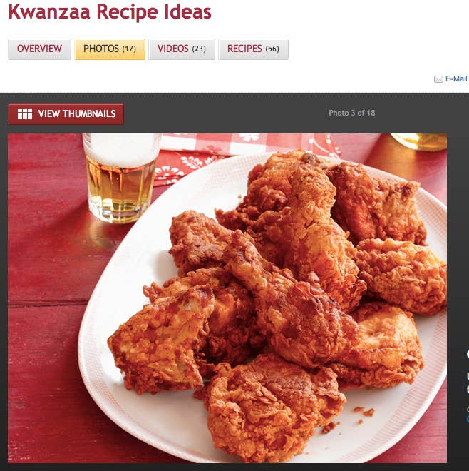 Is the food networks kwanzaa fried chicken recipe racist yesterdays food network recipe of the day filed under its kwanzaa recipe section forumfinder Image collections