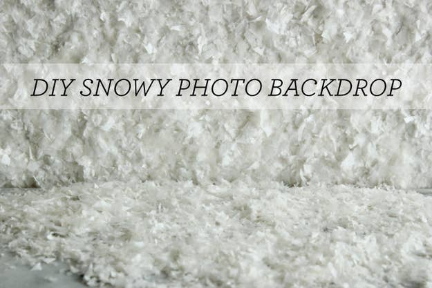 Or make a snowy backdrop.