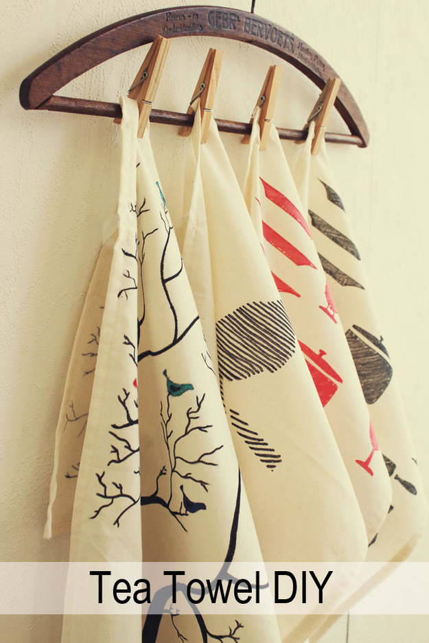 Decorated Tea Towels
