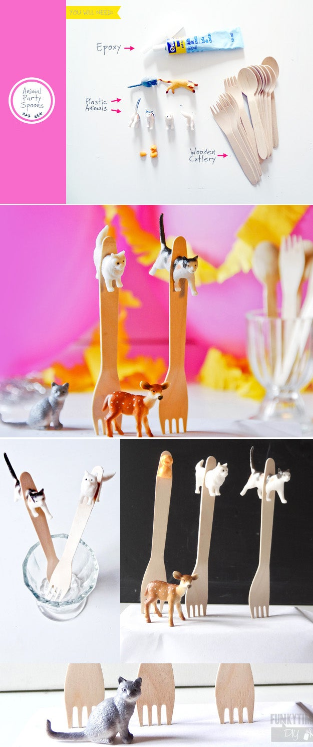 Requires cutting plastic animals in half with a kitchen knife. Get the tutorial here.