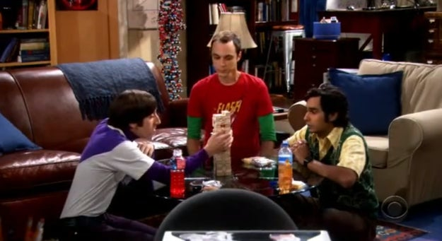 The boys of The Big Bang Theory are known to be avid board game players but this heated Jenga tournament is one of the funniest on the show.