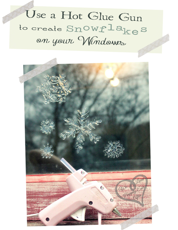 Make window snowflakes with a glue gun