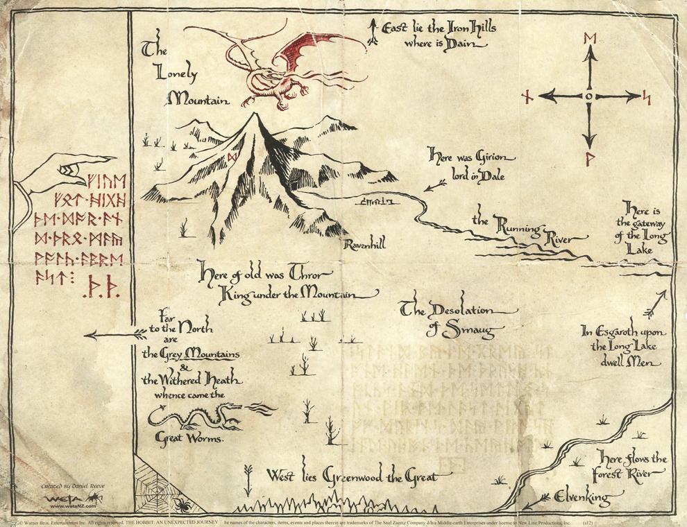 Risultati immagini per the hobbit new map