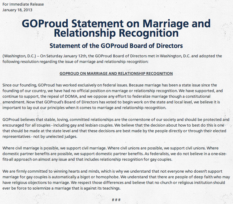 Meghan Mccain On Gay Marriage: GOProud Backs Civil Marriage For Gay Couples