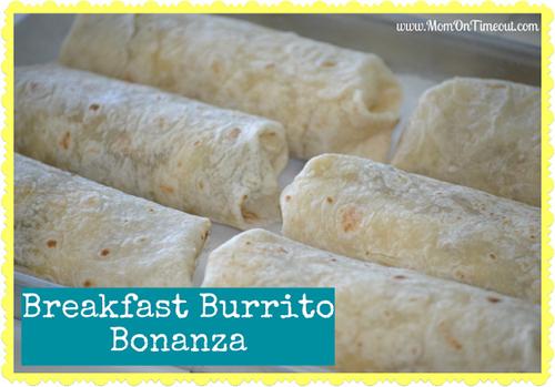 Make a batch of breakfast burritos in advance.