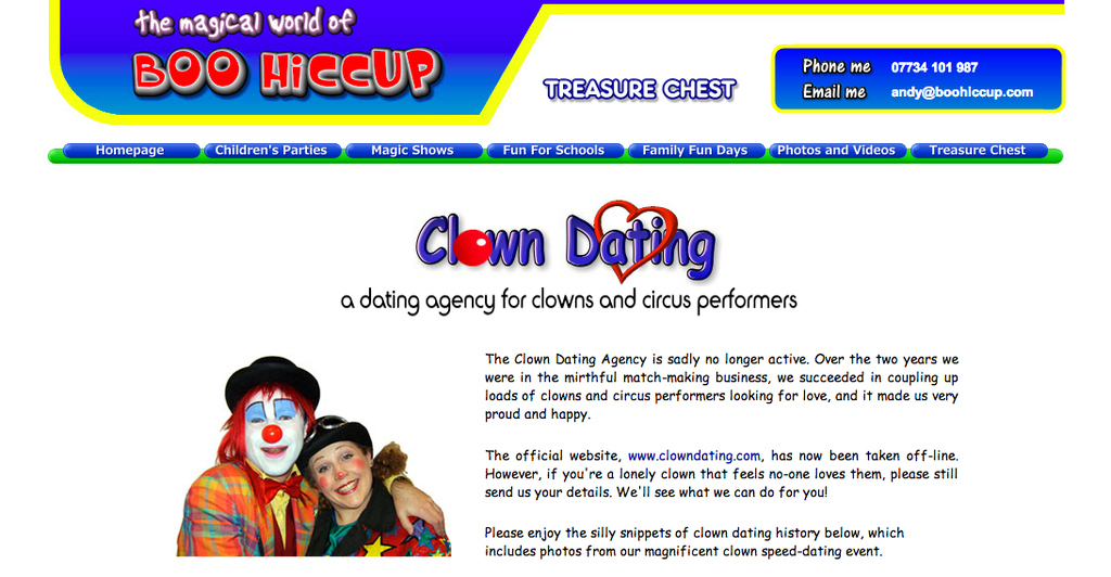 Clown speed dating