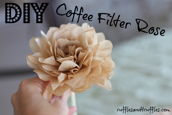 Make quick and easy coffee filter roses.