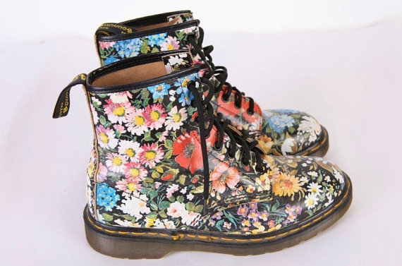 Buy your love a pair of floral Doc Martens.