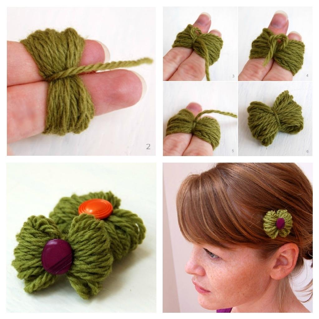 Как сделать из толстых ниток цветы