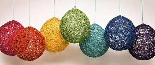 32 awesome no knit diy yarn projects yarn balloons solutioingenieria Gallery