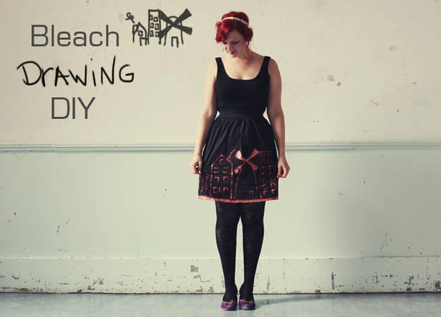 Draw your own patterns using bleach with this tutorial.