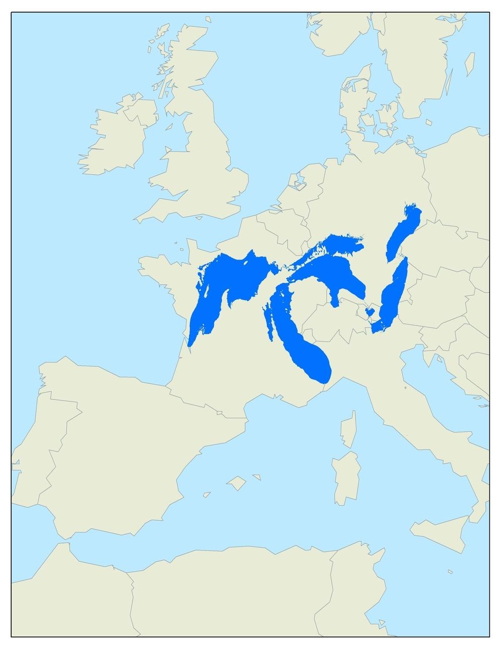Los Great Lakes ocuparían todo este espacio si estuvieran en Europa: